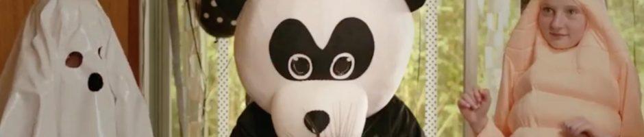 panda at a table