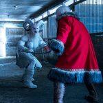 Santa faces off against Krampus