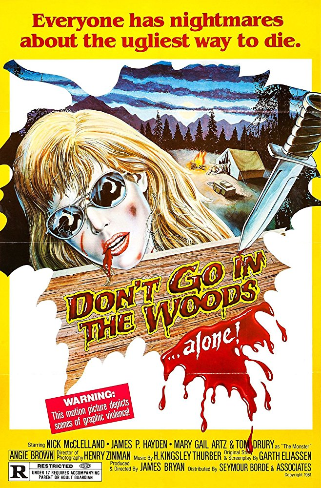 poster for don't go into the woods