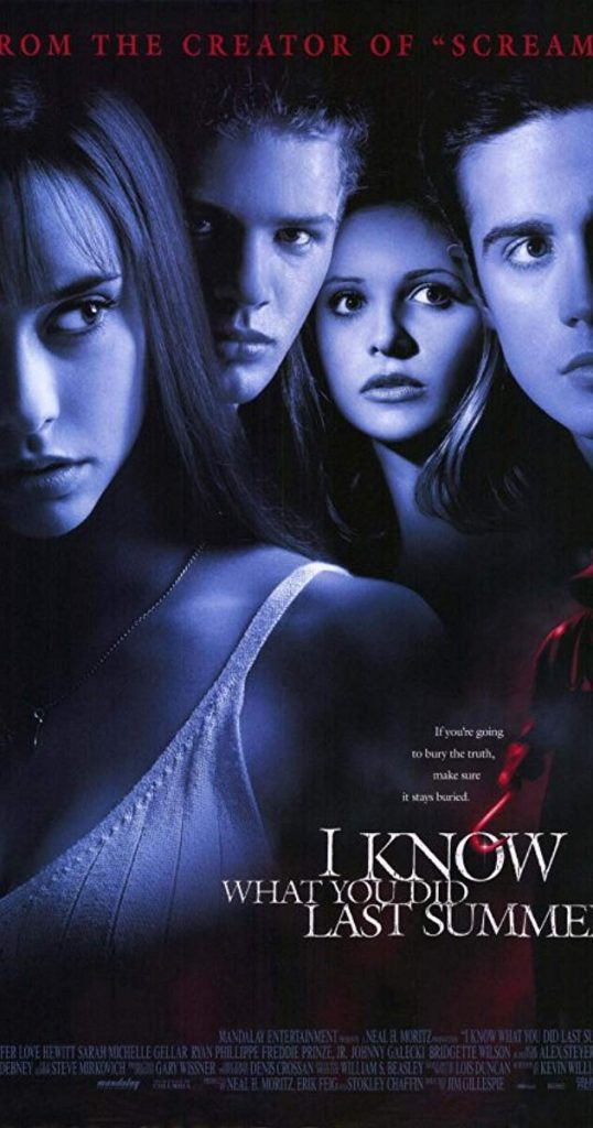 I know what you did poster