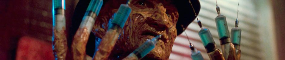 freddy with syringes for fingers