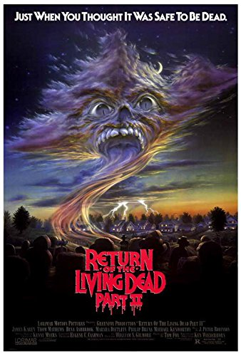 return of the living dead 2 movie poster