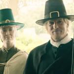 pilgrims at the door
