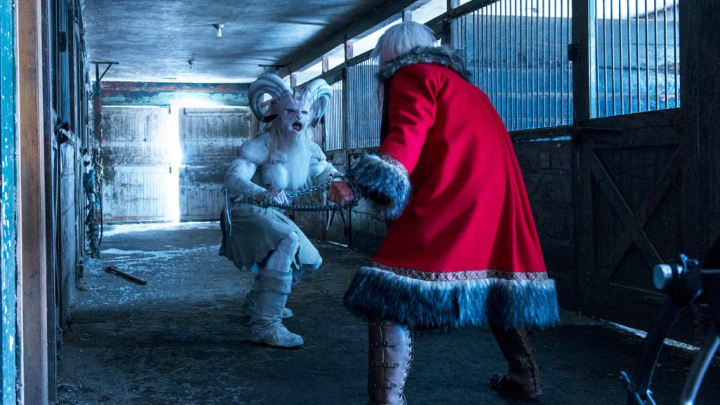 Santa faces off against Krampus