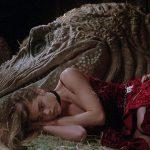 tammy sleeps with a dinosaur